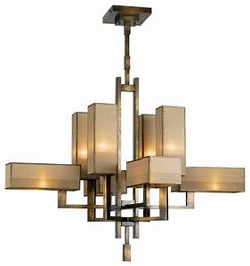 Perspectives Bronze Chandelier, 733840ST - Contemporary