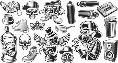 Graffiti Stickers Vector Cdr Characters 3axis Skull