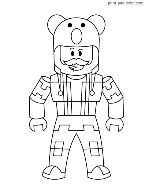 roblox characters coloring pages coloring pages