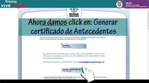 como descargar certificado c 243 mo descargar el certificado de antecedentes