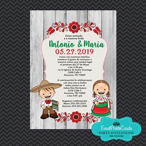 mexican traditional wedding invitations invitaciones de With traditional mexican wedding invitations