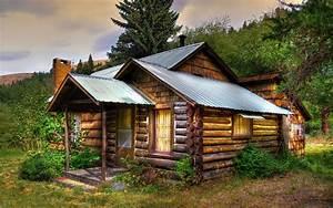 Old cabane en bois Papier peint