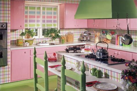 retro kitchen colors colorful vintage kitchen designs 1932