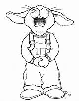 Easter Overalls Drawings Coloring Rabbit Drawing Pages Clipart Bunny Mormon Outline Bunnies Colouring Lds Template Cartoon Getdrawings Happy Mormonshare Sketch sketch template