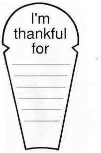 I AM Thankful Turkey Feather Template