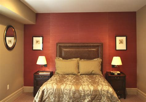 Cool Red Wall Painted Color Bedroom With Awesome