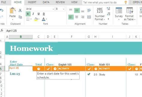 school schedule template free homework schedule template for excel online