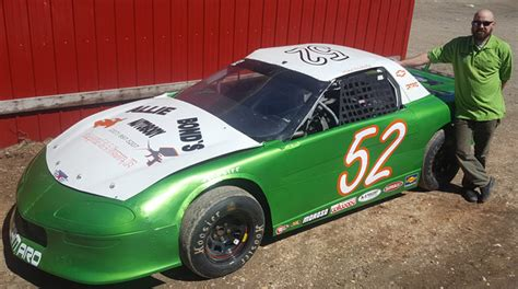 mike nichols tree service driver spotlights oxford plains speedway