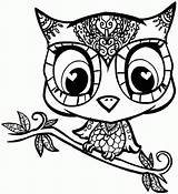Coloring Animal Pages Teens Sheets Printable Owl Popular sketch template