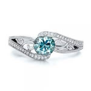 blue wedding ring custom blue zircon and engagement ring 100645