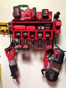 Custom Garage Power Tool Rack With Shelf One Of A Kind