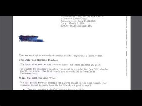 Disability Approval Letters And Payments - 4 Things You ...