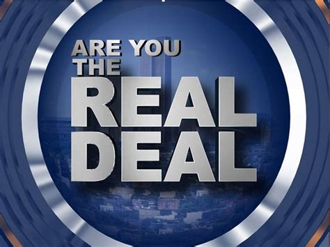 Are You the Real Deal? - Park Hill Church of Christ