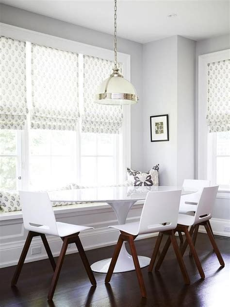 oval kitchen table with bench chic dining room boasts a built in window seat bench