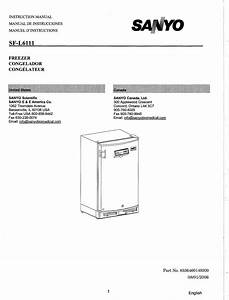 Sanyo Freezer Sf L6111 Users Manual