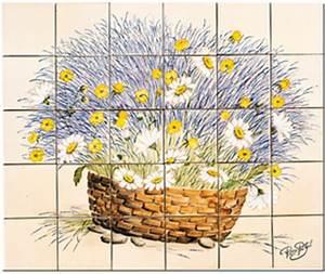 Decoration Murale Exterieur Provencale : carrelage d coration panier champ tre tableau ~ Nature-et-papiers.com Idées de Décoration