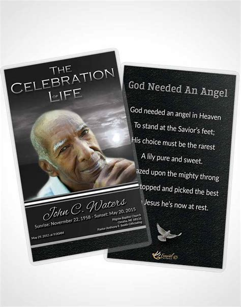 obituary template trifold brochure  higher power