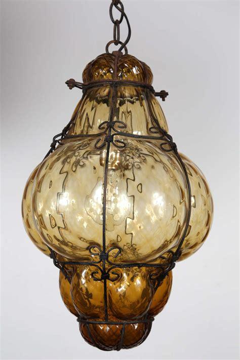 blown glass pendant lights vintage blown seguso murano glass cage pendant