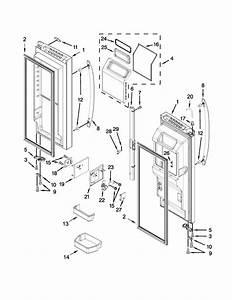 Refrigerator Door Parts Diagram  U0026 Parts List For Model 59672383411 Kenmore