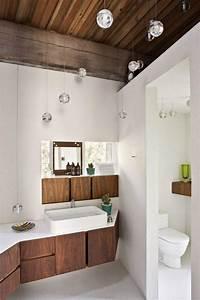 luminaire bois salle de bain mzaolcom With salle de bain blanche et bois