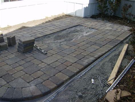 patio paver edging installing a paver patio part 1 steve snedeker s