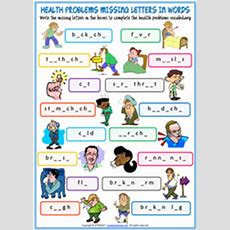 Health Problems Esl Printable Worksheets And Exercises