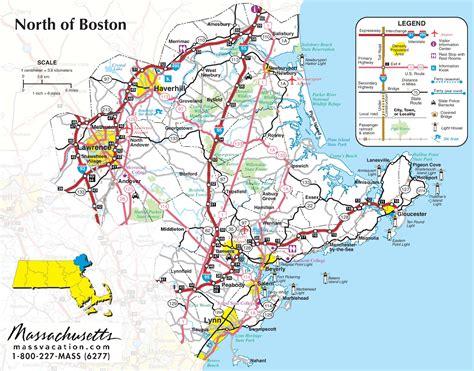 north  boston map