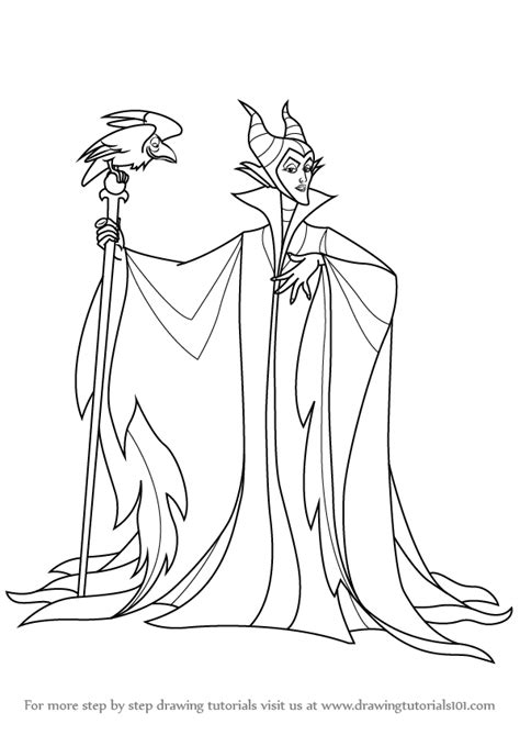 maleficent wings coloring pages