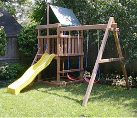 diy plans  swing sets plans sound  clear heaviersturdier wood easy  disassemble