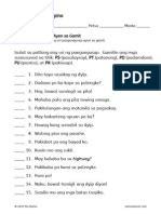 uri ng pangungusap worksheet