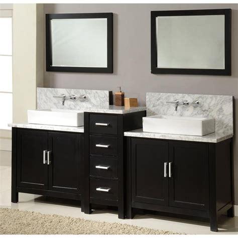 direct vanity   horizon ebony double vanity sink