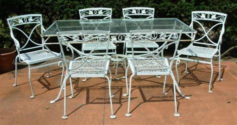 salterini iron patio furniture a salterini 7 pc wrought iron dining set mt vernon joan