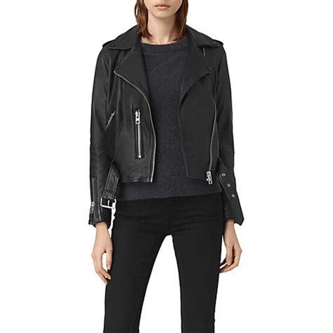 cheap biker jackets allsaints leather balfern biker jacket wholesale black