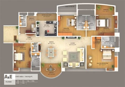 Elegant 3d Mansion Floor Plans