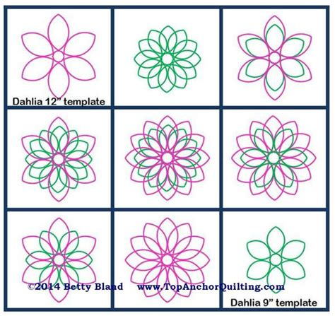 quilting rulers and templates dahlia quilt templates patterns topanchor quilting tools