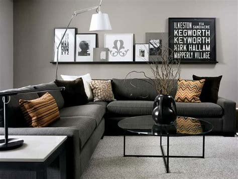 Living Room Gray Sofa gray living room with black sectional sofa popular gray