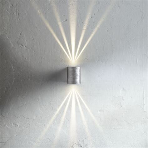 nordlux canto outdoor led wall light galvanised