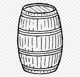 Barrel Drawing Coloring Keg Wine Clipart Computer Icons Template Clip Sketch Wooden Pages sketch template