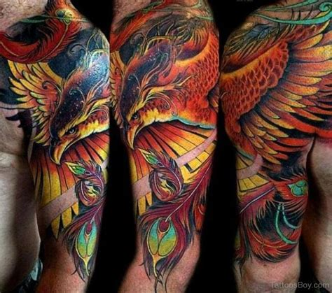 fiery phoenix tattoo ideas   set  ablaze