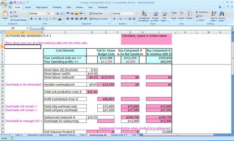cost template financial excel templates spreadsheets 2013