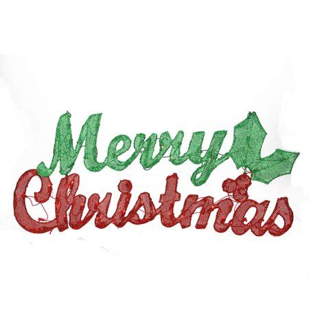 32 inch red and green led merry christmas sign 32 quot pre lit green glitter mesh quot merry quot yard sign decoration warm white
