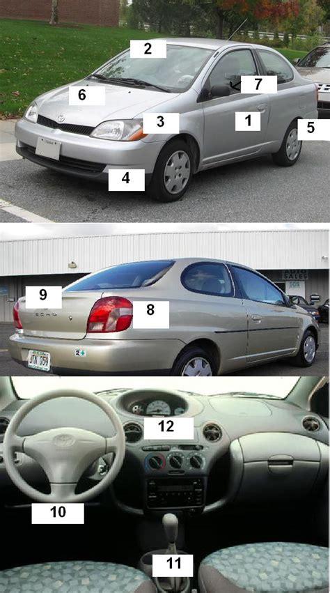 english exercises car parts