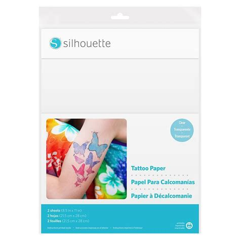 silhouette temporary tattoo paper clear swing design