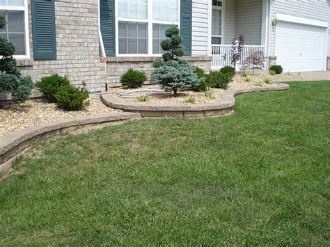 front yard retaining wall front yard retaining walls landscaping o fallon missour by a landscape solutions