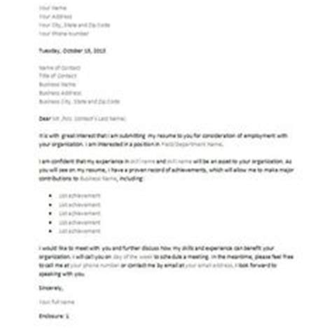 inquiry cover letter letter  inquiry