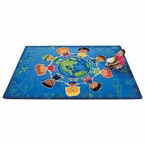 Carpets for Kids Printed Give The Planet A Hug Blue Area ...