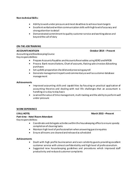 Non Technical Resume Skills by Resume Emalyn Banan