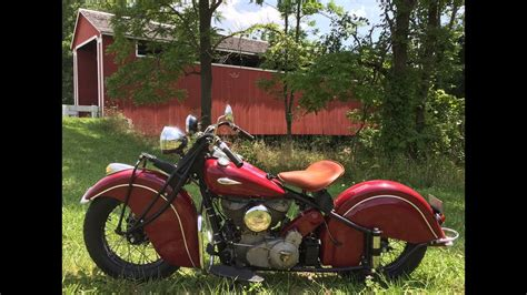 Take A Ride With Me On My 1940 Indian Chief Motorcycle