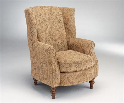 Precious Fusion Furniture Transitional Wing Back Chair