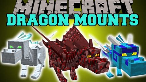 Minecraft: DRAGON MOUNTS (RIDE AETHER, GHOST, FIRE, ICE